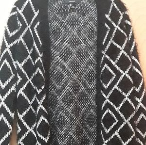 Forever 21 Sweater Faux Fur Boho triangle S